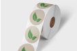 Labels on roll no dispenser eco
