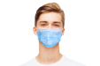 Unprinted disposable face masks available at drukwerktotaal