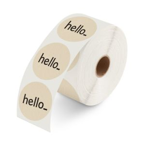 Labels on roll no dispenser eco printing