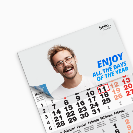 Get your uniquely printed calendar from Helloprint. Use it to never miss any appointment or big occasion.