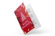 Printed Christmas card with special finishes available at Helloprint