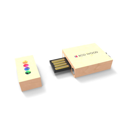 An Eco wood printed USB available at Helloprint with customised printing options for a cheap price