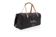 Canvas Weekend Bag in black custom printed at Helloprint