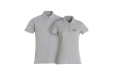 A pair of grey shirts available at Helloprint with personalised printing solutions for a cheap price