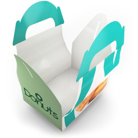 Nice food gable box. A handy way to carry your lunch. Produced by Helloprint.