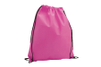 A pink non woven drawstring bag available at Helloprint with customised printing solutions for a cheap price