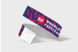 Purple and red printed wristband
