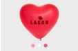 Heart shaped balloons with your personalised message, design or name - printed with Helloprint