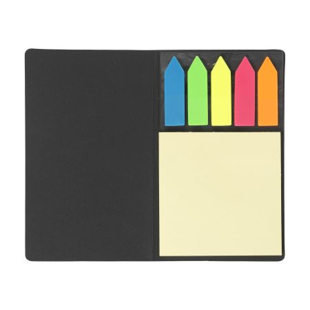 A product image of a Maxi memo notebook available to be printed with a custom image or branding at {[shop_name}}