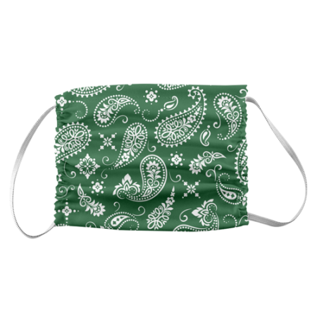 Paisley pattern bandana style printed on a protective face mask available at Helloprint