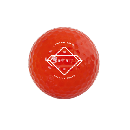 A red golf ball available at Helloprint with personalised printing options for a cheap price