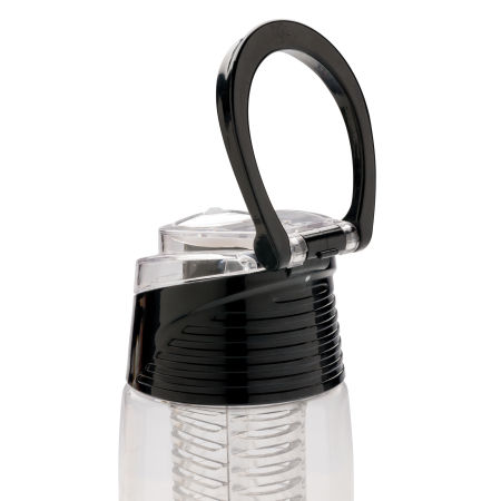 Custom Printed Lockable Infuser Water Bottle with carrying hook, available at Helloprint