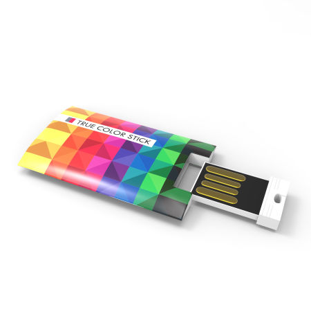 A multi colour USB stick available at Helloprint with custom printing solutions for cheap prices