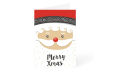 Santa face Merry Christmas Christmas card design available at Drukzo