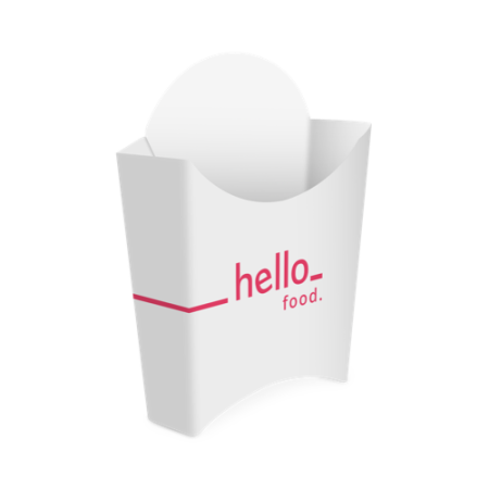 A French Fried box available with customised printing solutions for cheap prices at Helloprint