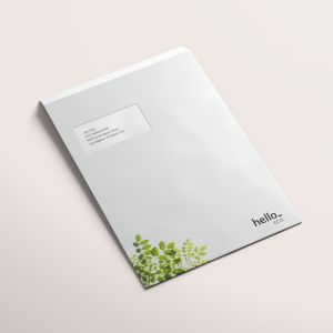 Recycled paper envelopes from HelloprintConnect