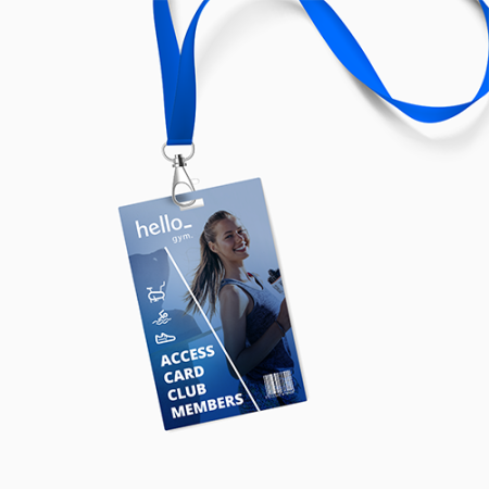 A PVC rectangular card available with customised printing options for a cheap price at Helloprint