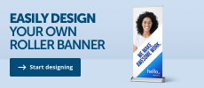Design your own roller banner at leafletsprinting.com.