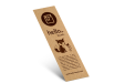 Environmentally friendly Bookmarks from Kraft Paper, available at Helloprint