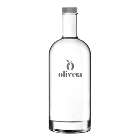 Printed classic glass bottle 1 liter