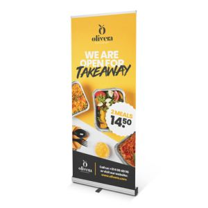 staande Promo roll-up banners