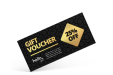 Luxury black and gold voucher