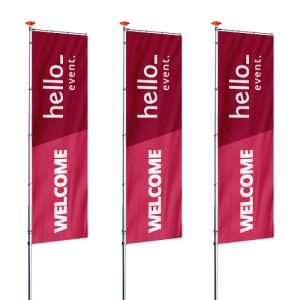 standing Banner flags (Screen Printed)