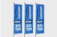 Print banner flags in large quantities with Helloprint screenprinting