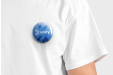Custom badges with your personalisedimage  - available online at Helloprint