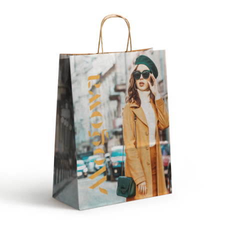 Full colour printed paper bags