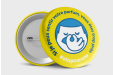 Badges Anti COVID-19 Jaune n°2 : Ø 56mm