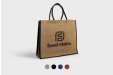 Personalised Shopping jute bags, printed with your business logo or custom design - Helloprint