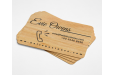Wooden Business cards, available at Helloprint