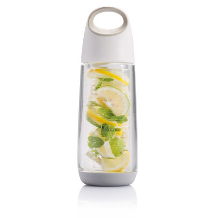 Customisable Bopp Fruit Infuser Bottle Filled with Fruit, with Top Handle, available at Helloprint