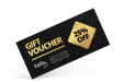 Vouchers with exclusive finishes, available at HelloprintConnect
