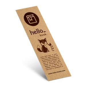 Eco Friendly Bookmarks with 100% recycled paper from Helloprint