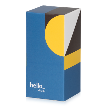 A colourful box with a top flap available at Helloprint with a customised design and logo at the best price.