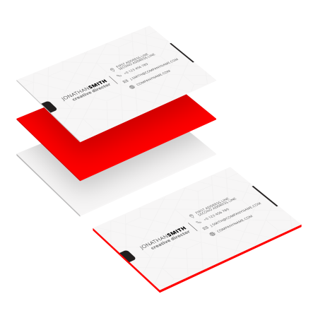 Professional printed multilayer business cards for your networking and business opportunities.