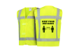 Yellow safety vest with pre-printed design