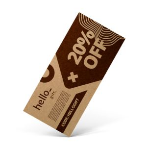 Eco vouchers with off-white recyclable paper from Helloprint