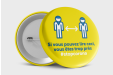 Badges Anti Covid-19 Jaune n°1 : Ø 56mm