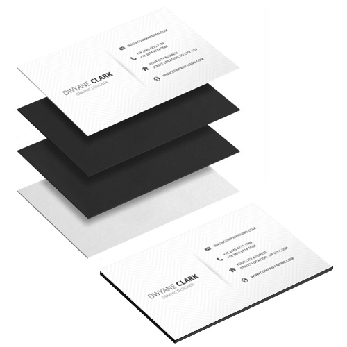 Stack of Multilayer Business Cards