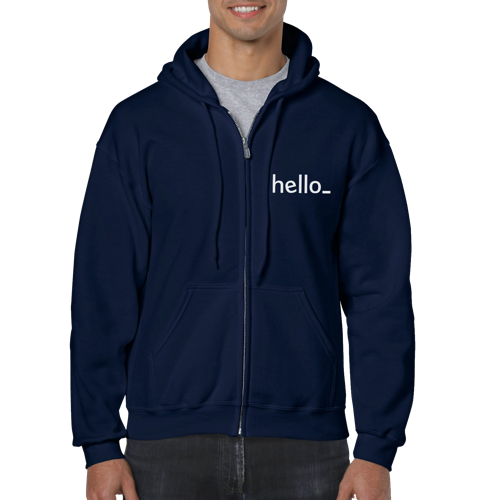 Female Fleece Zip up Hoodie from the back, available at Helloprint