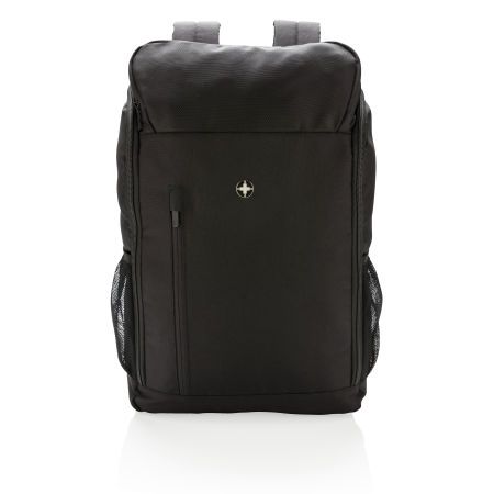 Personalised 17 liters Premium Business Backpack in Black, available at Helloprint.