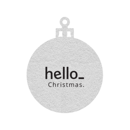 Christmas tree ornament that can be personalised with your own logo or text on Helloprint.