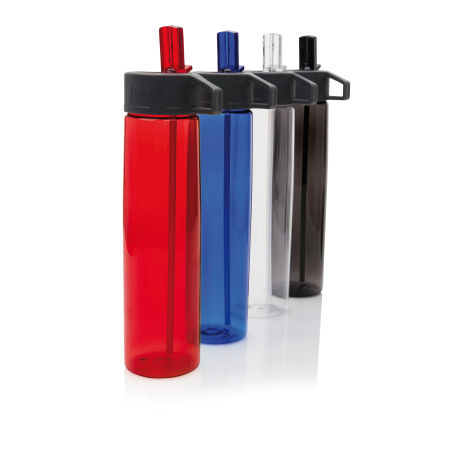 Custom Printed Tritan Bottle with Straw in 4 colors,  available at Helloprint